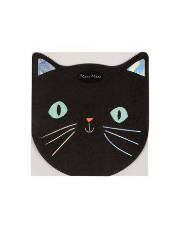 Meri Meri - Serwetki Czarny kot