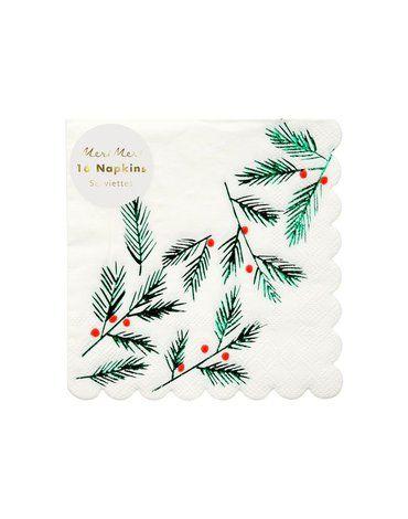 Meri Meri - Małe serwetki Świąteczne gałązki