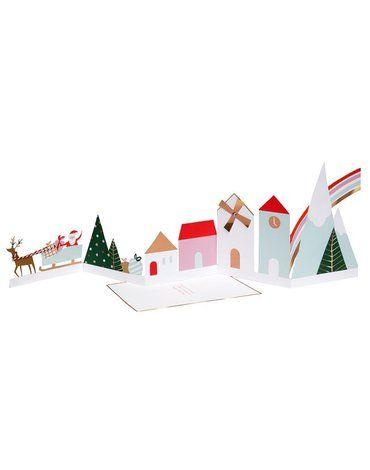 Meri Meri - Kartka okolicznościowa 3D Świąteczna wioska