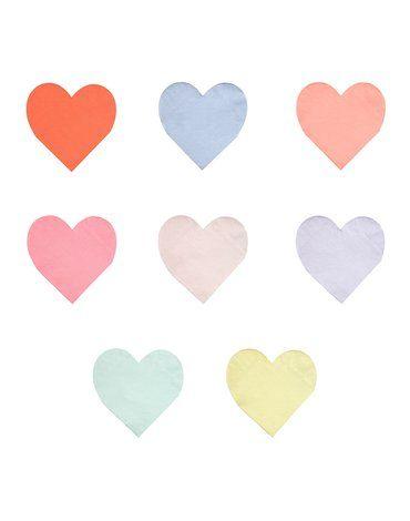 Meri Meri - Małe serwetki Serce pastelowe