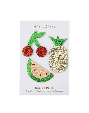 Meri Meri - Naprasowanki Owoce brokatowe