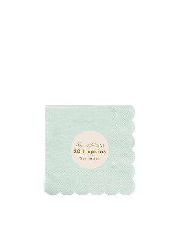 Meri Meri - Małe serwetki Simply Eco Miętowe