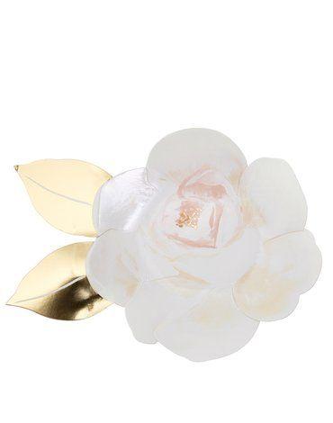 Meri Meri - Talerzyki Róża biała