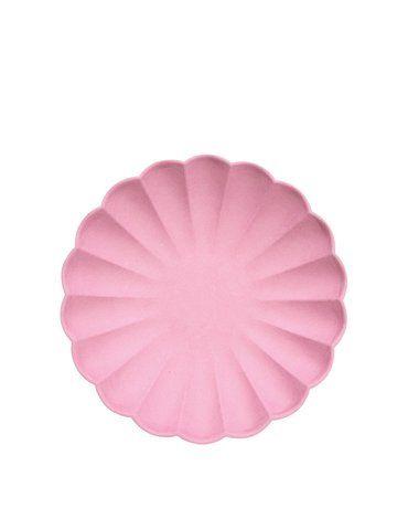 Meri Meri - Małe talerzyki Simply Eco Różowe