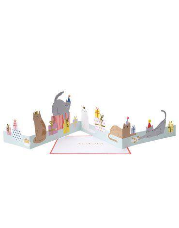 Meri Meri - Kartka okolicznościowa 3D Kocia impreza