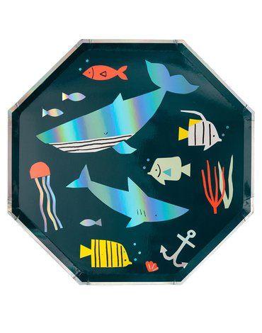 Meri Meri - Duże talerzyki Podwodny świat
