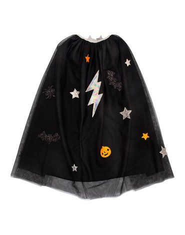 Meri Meri - Przebranie Peleryna Halloween czarna