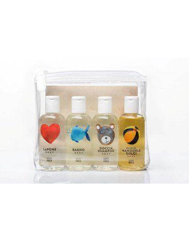 Linea MammaBaby - Zestaw kosmetyków MammaBaby 4 x 100ml (mydło, płyn do kąpieli, szampon, olejek)