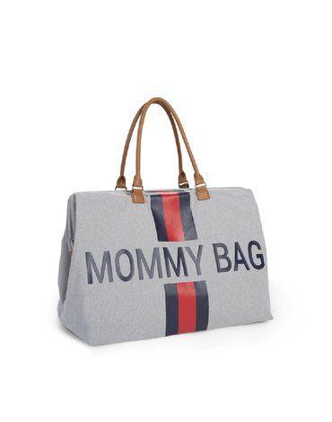 CHILDHOME - Torba Mommy Bag Paski Granatowo-Czerwone