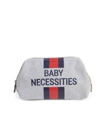 CHILDHOME - Kosmetyczka Baby Necessities Paski Granatowo-Czerwone