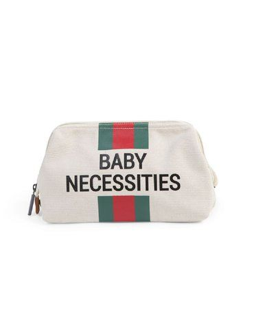 CHILDHOME - Kosmetyczka Baby Necessities Paski Zielono-Czerwone