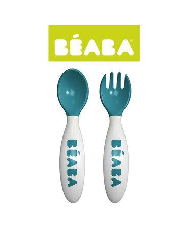 Beaba Sztućce plastikowe w etui blue