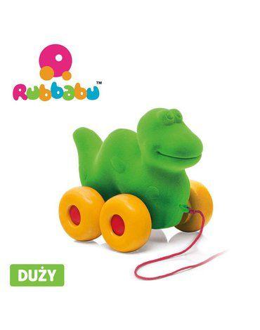 Rubbabu Dinozaur do ciągnięcia sensoryczny zielony