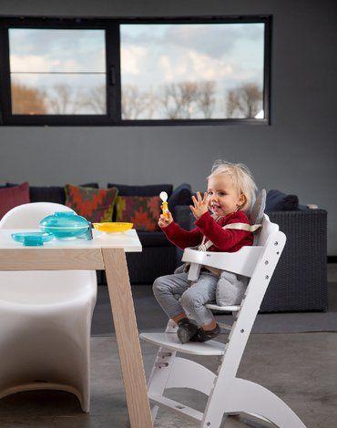 Krzesełko do karmienia Lambda 3 White CHILDHOME