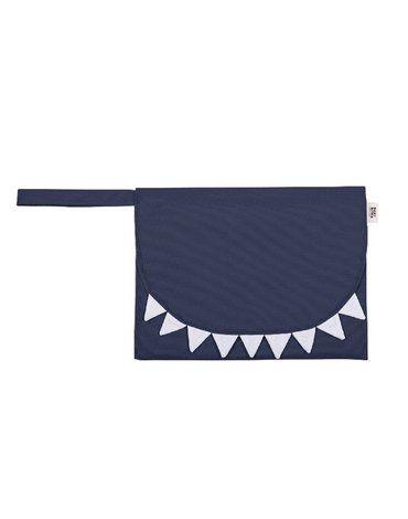 Baby Bites Przewijak podróżny Shark Navy Blue