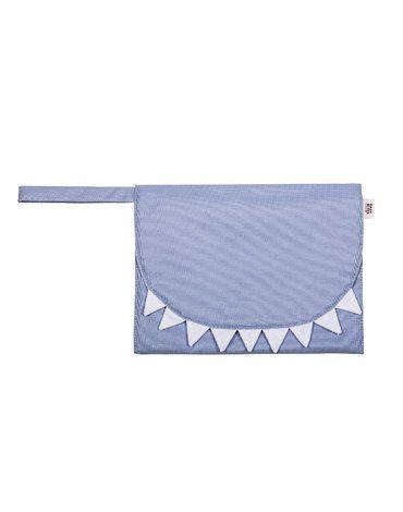 Baby Bites Przewijak podróżny Shark Slate Blue