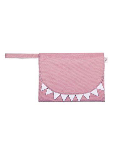 Baby Bites Przewijak podróżny Shark Pink