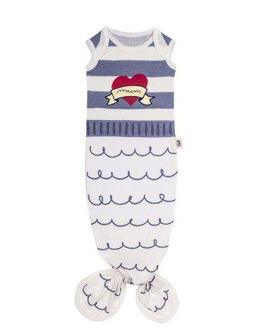 Baby Bites Śpioszki Baby Gown Sailor (0-3 miesięcy) Blue