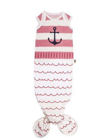 Baby Bites Śpioszki Baby Gown Sailor (0-3 miesięcy) Pink