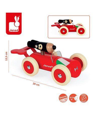 Drewniany samochód w stylu retro Spirit Marco, Janod