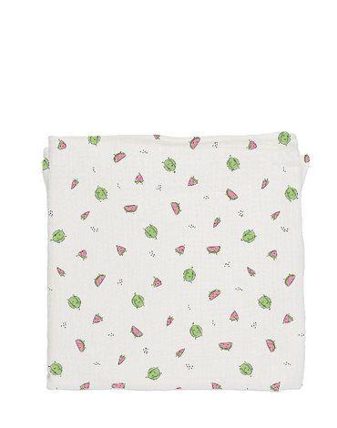 Baby Bites Pieluszka muślinowa 120 x 120 cm Watermelons White