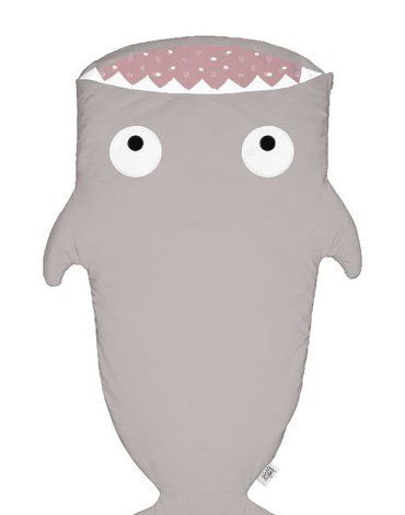 Baby Bites Śpiworek letni Shark (2-6 lat) Stone/Pink