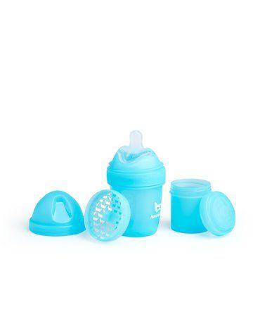 Herobility - butelka antykolkowa Herobottle 140 ml, niebieska + smoczek S (0 m+)