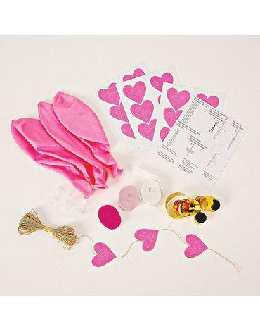 Meri Meri – Zestaw balonów z ozdobami Różowy