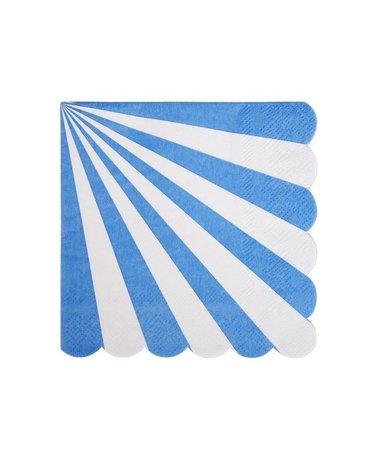 Meri Meri - Małe serwetki Paski niebieskie