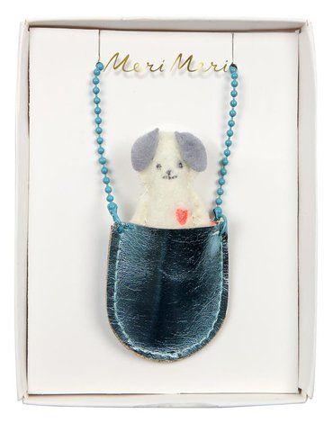 Meri Meri - Naszyjnik Pies w kieszonce