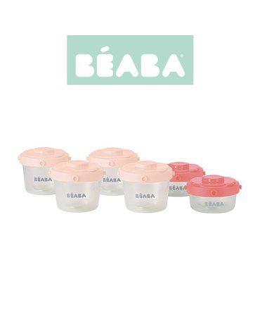 Beaba Zestaw słoiczków Clip 6 szt. 60 ml i 120 ml pink