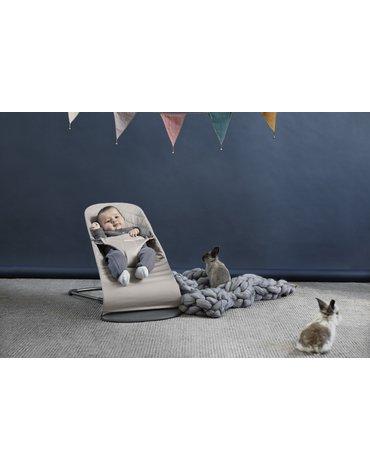 BABYBJORN - leżaczek BLISS - Piaskowy szary
