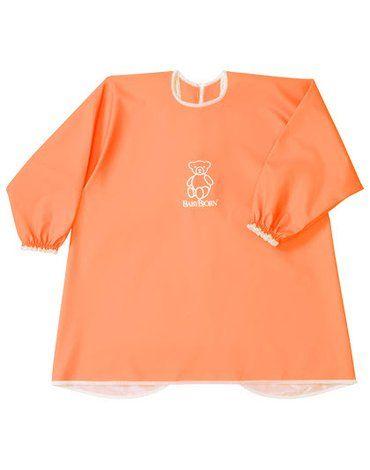 BABYBJORN - fartuszek z długim rękawem, Pomarańczowy