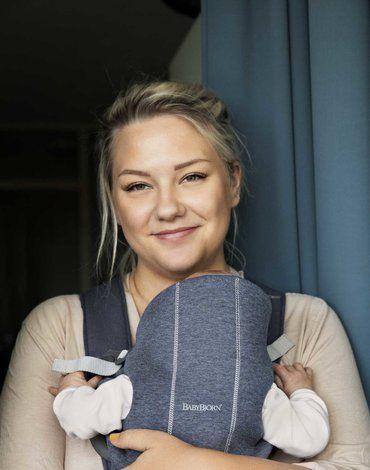 BABYBJORN MINI 3D Jersey – nosidełko, Niebieski