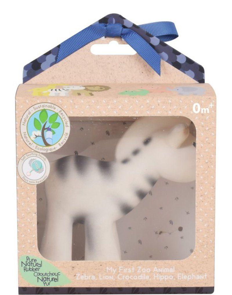 Gryzak zabawka Zebra Zoo w pudełku