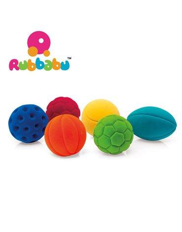 Rubbabu Zestaw 6 sensorycznych piłek sportowych