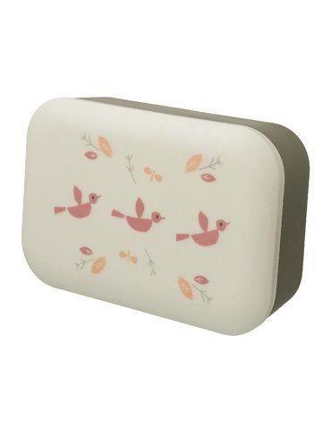 Fresk Bambusowe pudełko śniadaniowe Ptaszki