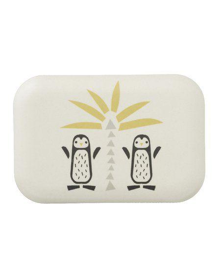 Fresk Bambusowe pudełko śniadaniowe Pingwin