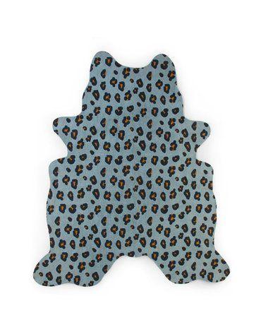 CHILDHOME - Dywan Leopard 145x160 blue