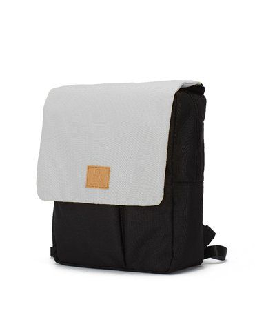 My Bag's Plecak Reflap eco black/grey
