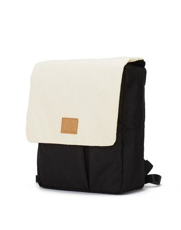 My Bag's Plecak Reflap eco black/cream