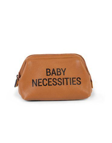 CHILDHOME - Kosmetyczka Baby Necessities Brązowa