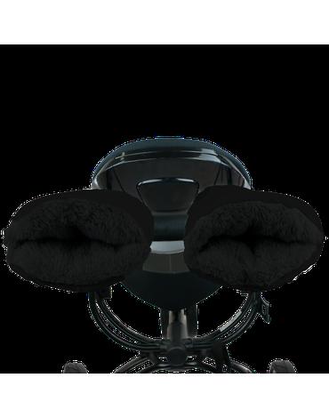 7AM - Mufki do wózka Black Plush
