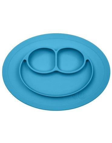 EZPZ - Silikonowy talerzyk z podkładką mały 2w1 Mini Mat niebieski