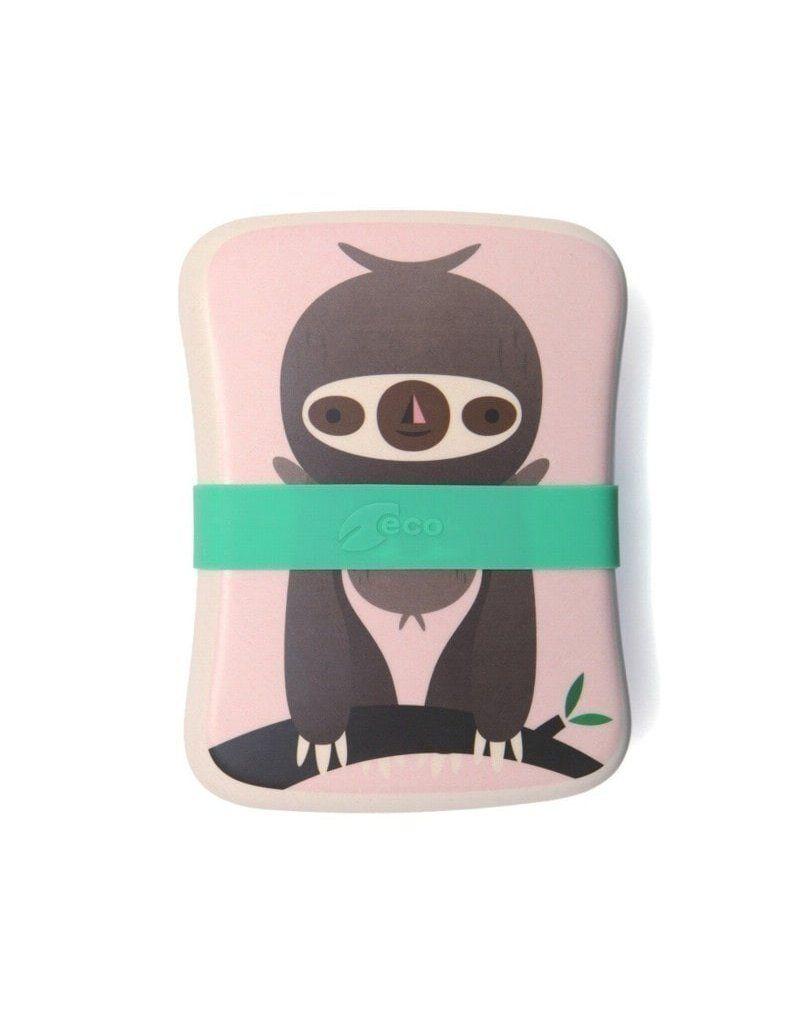 Petit Monkey -  ECO Śniadaniówka bambusowa Leniwiec Blush