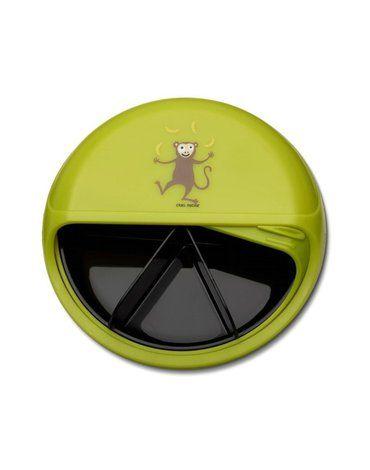 Carl Oscar Rotable SnackDISC™ 5 komorowy obrotowy pojemnik na przekąski Lime - Monkey