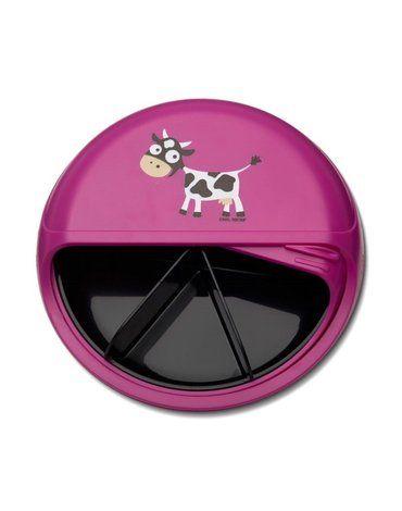 Carl Oscar Rotable SnackDISC™ 5 komorowy obrotowy pojemnik na przekąski Purple - Cow