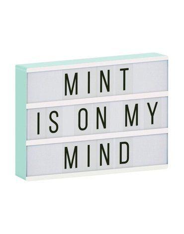 A Little Lovely Company - Lampa Lightbox LED A4 Mint