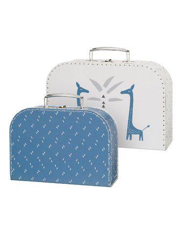 Fresk Zestaw walizek 2 szt. Żyrafa