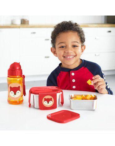 Skip Hop - Stalowe pudełko śniadaniowe Lisek